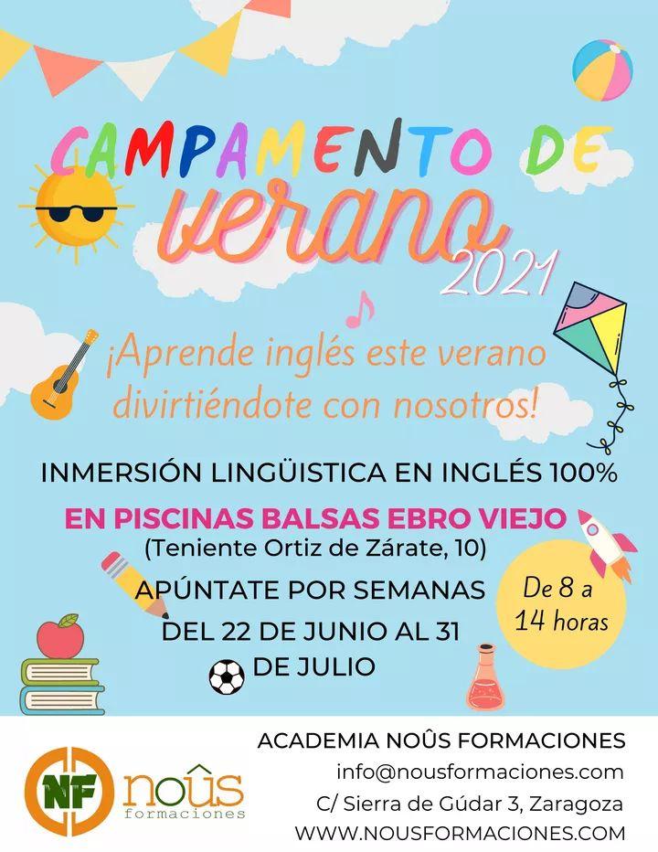 Campamento de verano en Zaragoza de inglés Noûs Formaciones